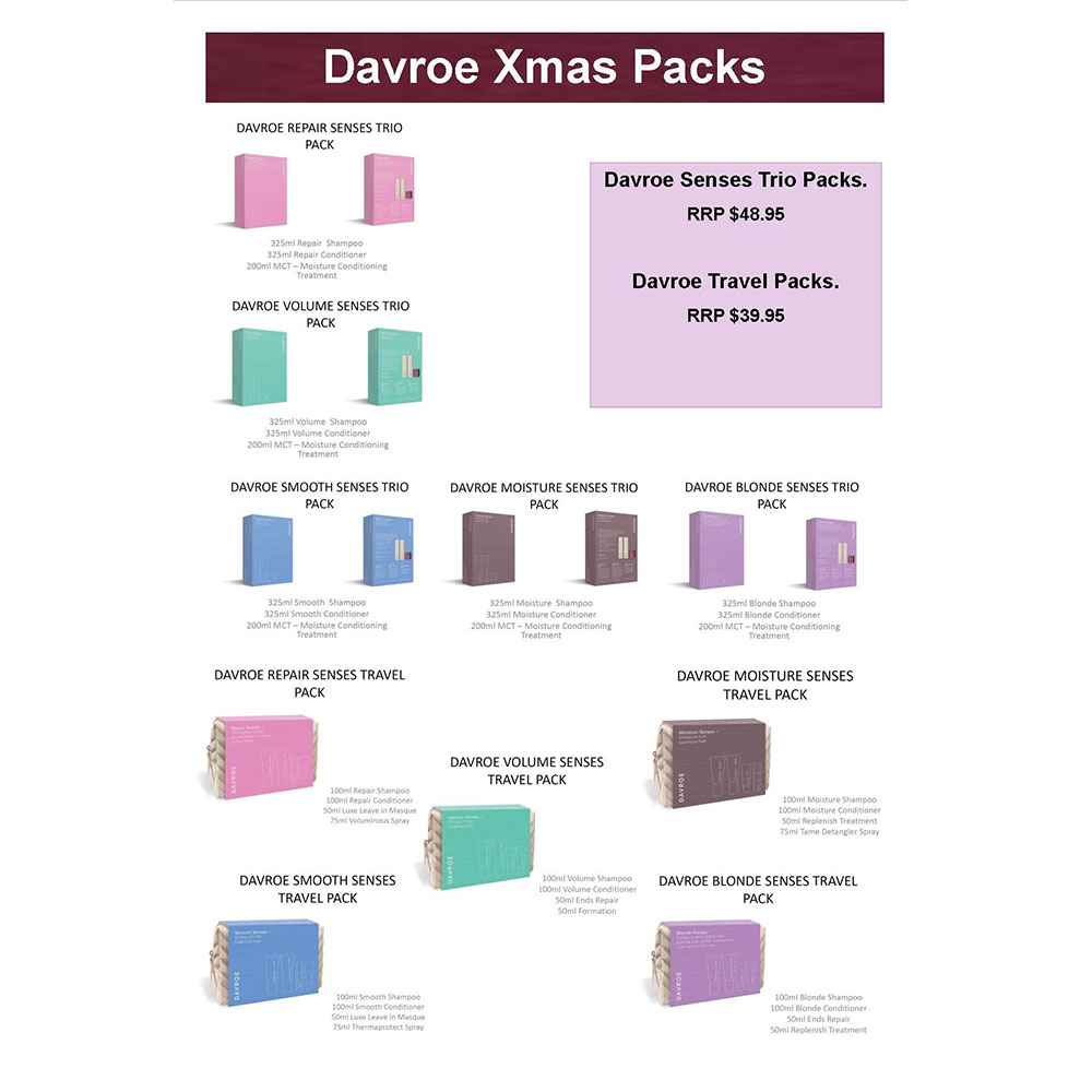 Salon Supplies Main View for Davroe Gift Packs 2019