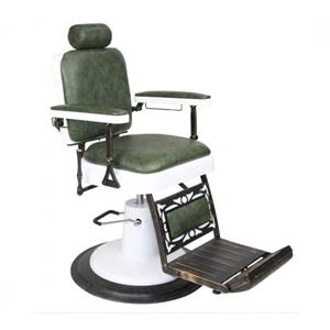Chicago Barber Chair with Olive Upholstery