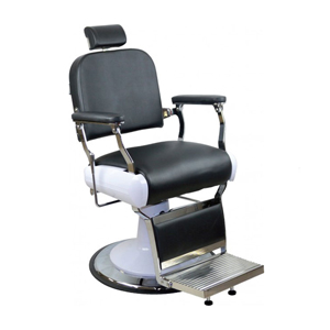 Dallas Barber Chair with Black Upholstery