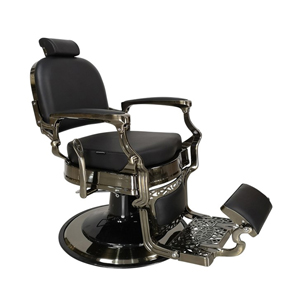 Havana Barber Chair with Black Upholstery