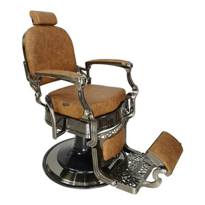 Havana Barber Chair with Tan Upholstery