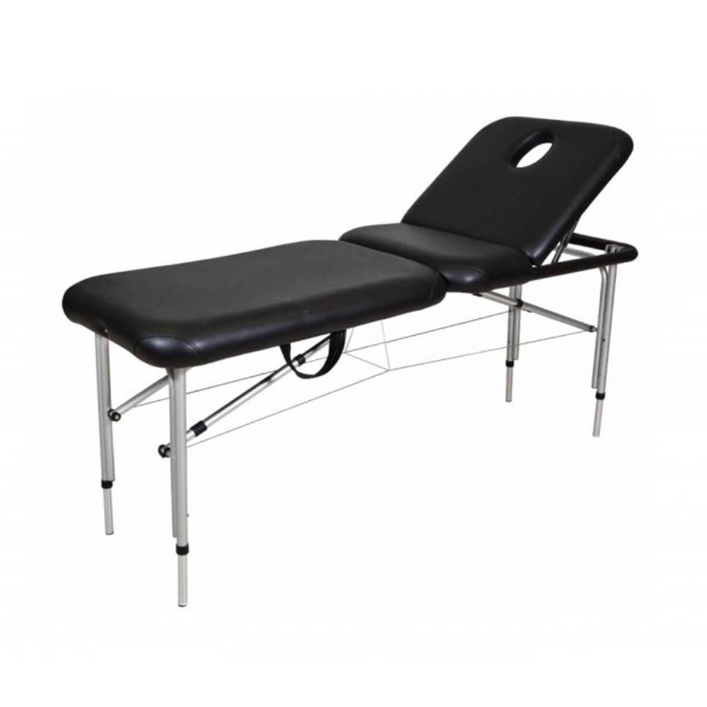 Black Aluminum Portable Beauty Bed