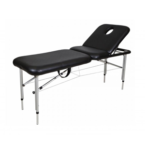 Black Aluminum Portable Beauty Bed