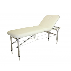 White Aluminum Portable Beauty Bed