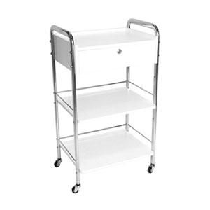 1 Draw + 2 Shelves Beauty Trolley