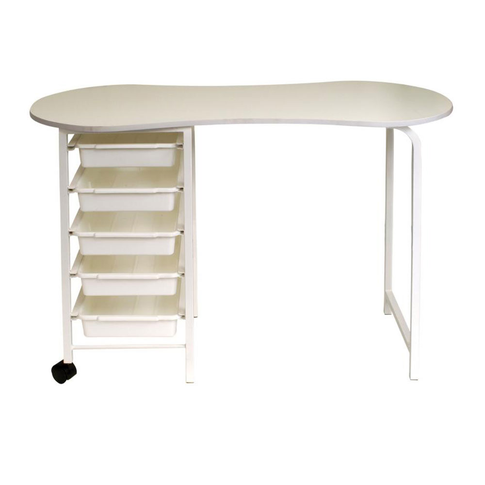 Salon Furniture Main Kidney Table White and Black