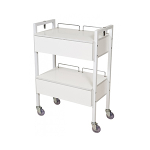 White 2 Drawer Beauty Trolley