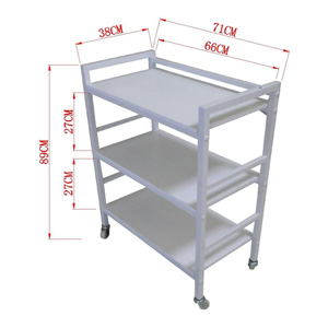 Salon Furniture Teaser EP 3 Tier Trolley