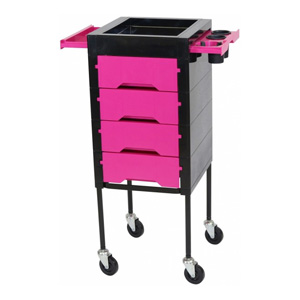 Salon Furniture Teaser for Libra Trolley Pink/Black