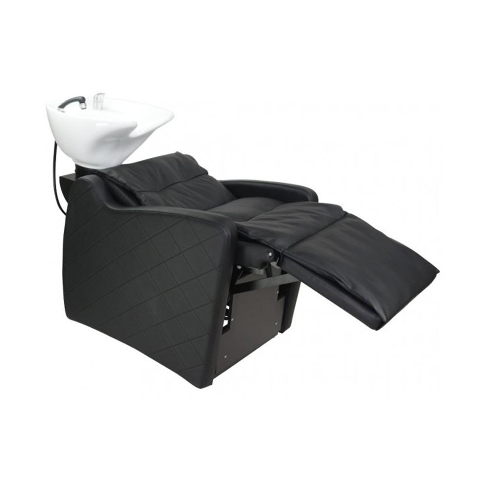 Valencia Shampoo Unit with open electric adjustable legrest