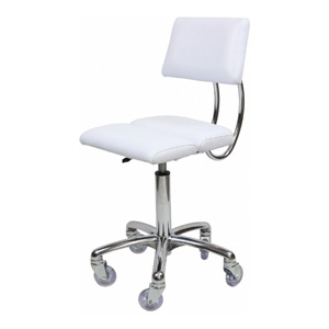 Dove Stool with White Seat