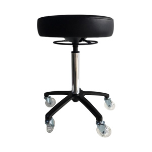 Round Stool with Roller Wheels