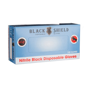 Salon Supplies Teaser for Black Shield Gloves 100pk - ALL SIZES