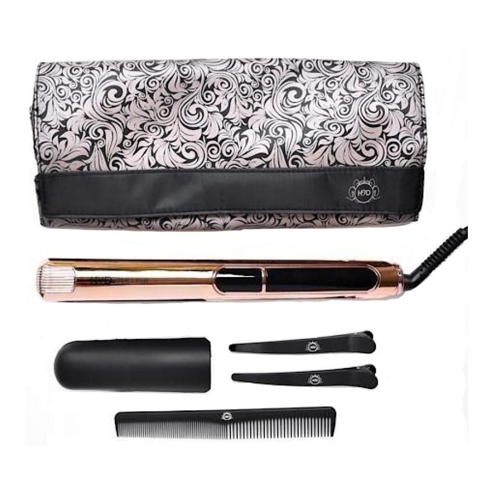 Salon Supplies Main View for H2D Linear II Rose Gold Chrome Professional Hair Straightener