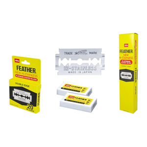 Salon Supplies Teaser for Feather Double Edged Blades - pk 100 (20 packs of 5)
