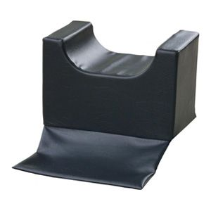 Black salon seat booster