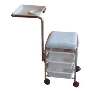 White Beauty Trolley with three-level storage
